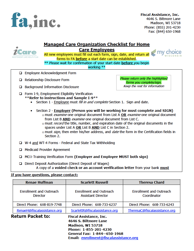 2021 MCO Employee Packet with cover sheet Thumb