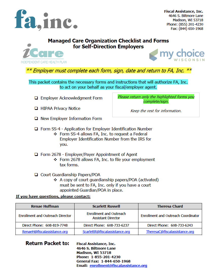 2021 MCO Employer Packet